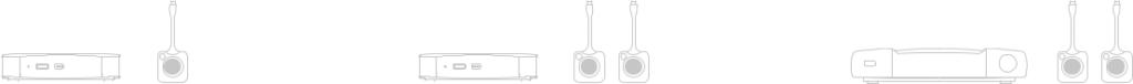 schematyczne przedstawienie urządzeń BARCO ClickShare