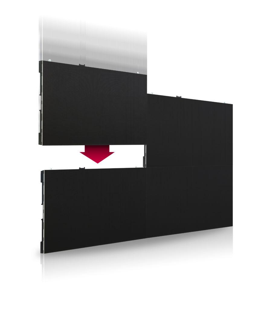 monitor LG serii LSAA modułowe łaczenie