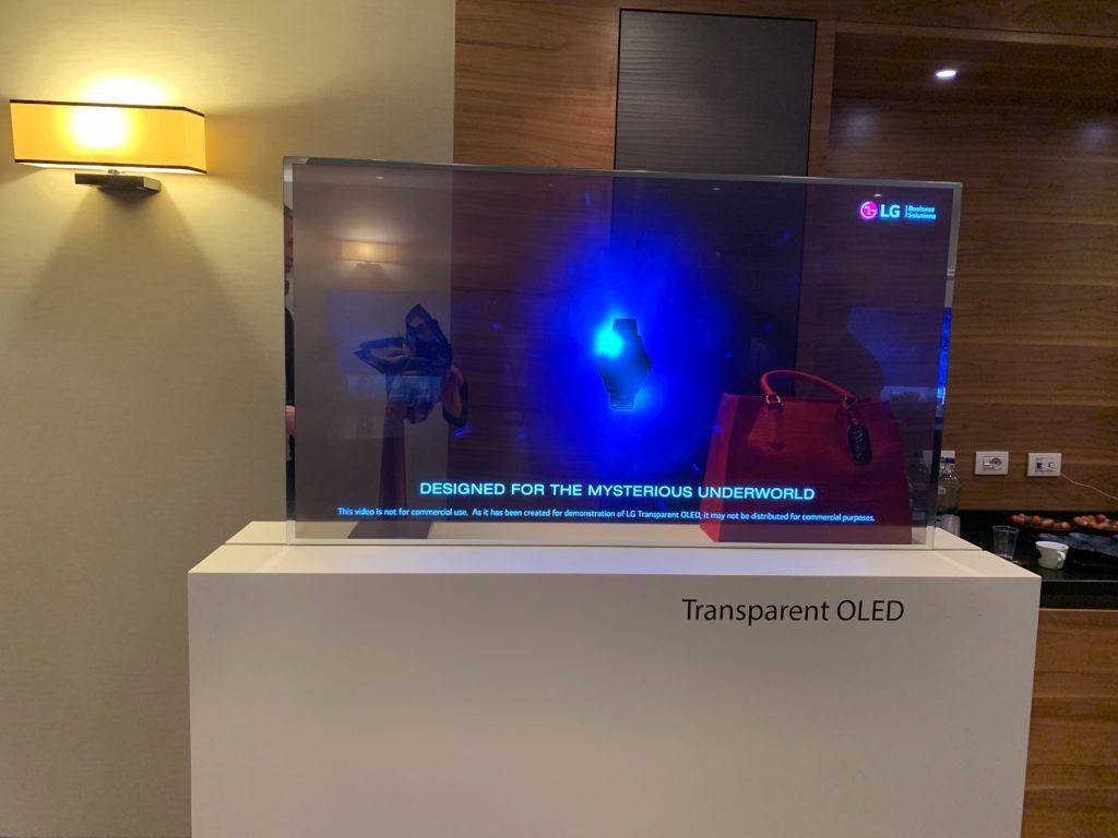transparentny monitor LG