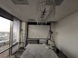 montujemy systemy audio-video w biurze Oceanic